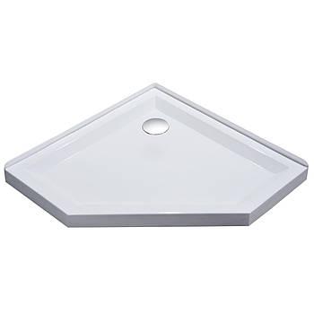 STEFANI поддон 100*100*4см пятиугольный, акриловый, с сифоном