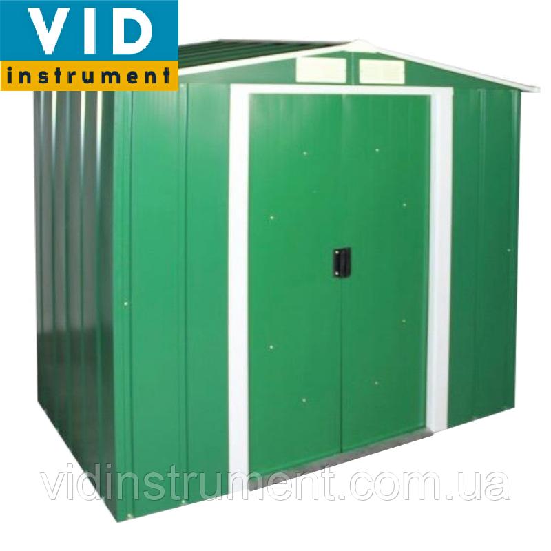 Сарай металлический ECO (зеленый с белым)