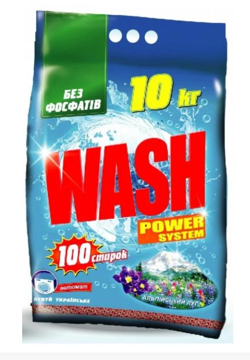 Стиральный порошок WASH автомат 10кг мешок