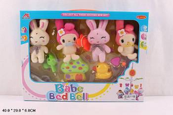 """Музыкальная карусель """"Babe Bed Bell"""" на кроватку с мягкими игрушками (механическая)"""