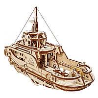 "Деревянный 3Д пазл ""Буксир"", 169 деталей UGEARS (4820184120983)"