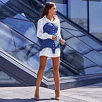 Женское платье с джинсовым корсетом
