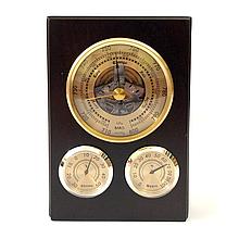 Деревянный барометр настенный с термометром и гидрометром