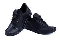 Мужские кожаные кроссовки C-series ZK Black