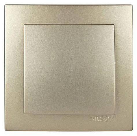 Выключатель одноклавишный Nilson Touran Metallik золото, фото 2
