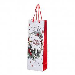 Пакет новогодний для алкоголя