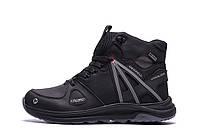 Чоловічі зимові шкіряні черевики MERRELL SLAB Black (репліка), фото 1