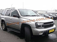 Дефлекторы окон (ветровики) Cobra Tuning на Chevrolet TRAILBLAZER 2004-12
