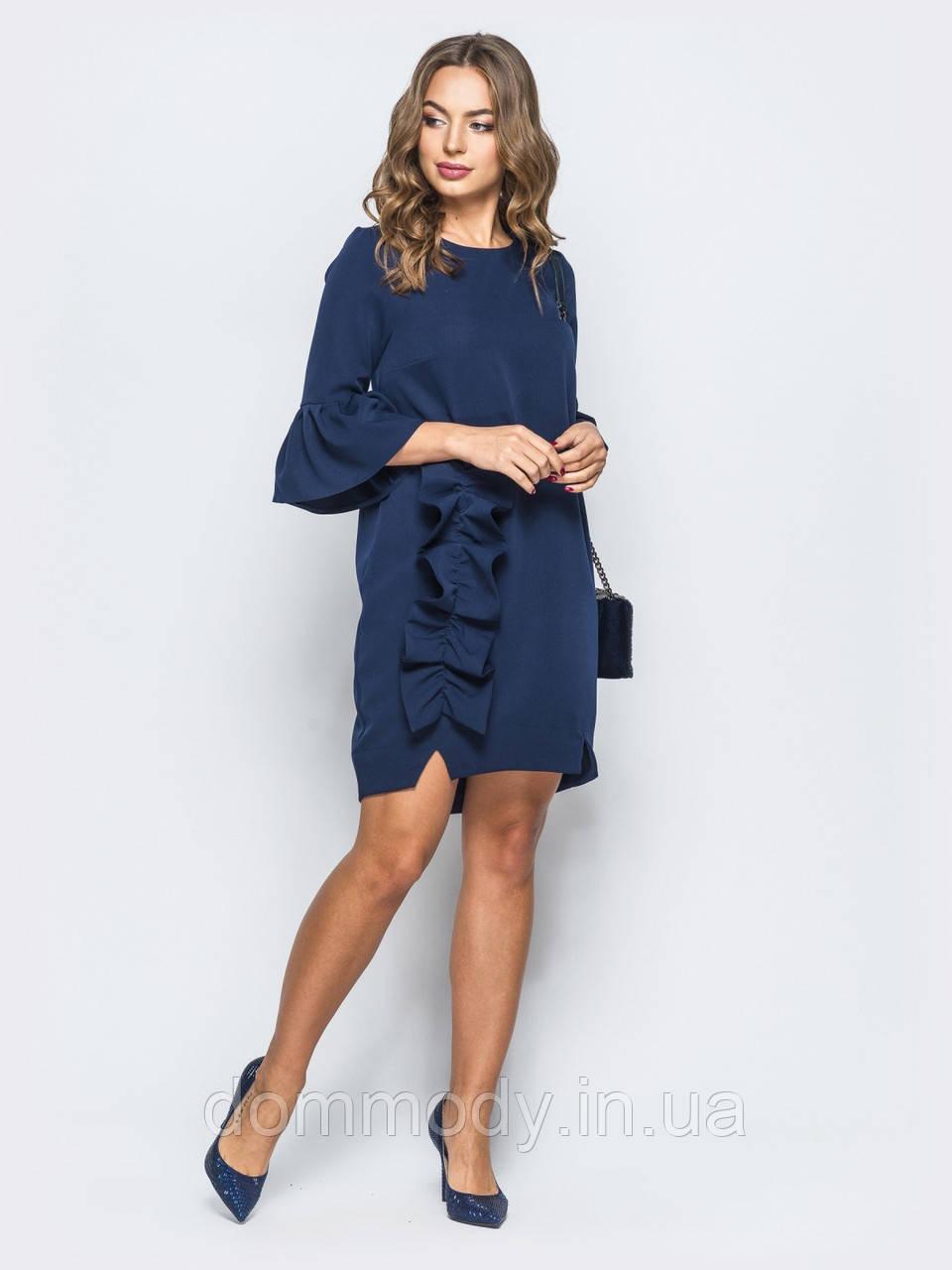 Сукня жіноча з декором-рюшею