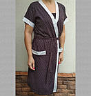 """Комплект женский трикотажный для кормящих """"Мама"""" р104, халат и ночная сорочка на бретельках 20037055, фото 3"""