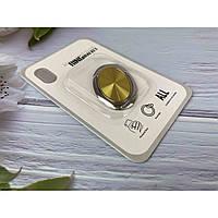 Держатель кольцо для телефона (попсокет / popsocket / подставка) Ring Bracket Oval 01 желтый, фото 1
