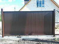 Ворота профлист ( відкотні ) 2000*4000, фото 1