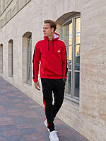 Тёплый спортивный костюм Adidas красний мужской