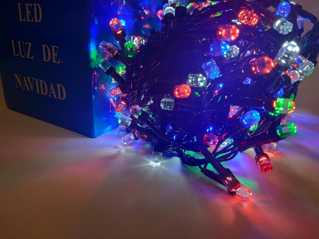 Гирлянда новогодняя Рубин(Точка, Кристалл) светодиодная LED 100 лампочек 8mm
