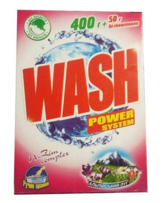 Стиральный порошок WASH Альпийский луг 450г ручная стирка