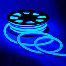 Світлодіодний неон #54-G синій 12V 6W/м SMD2835 вологозахищений AVT