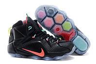 Кроссовки мужские баскетбольные Nike Lebron 12 (найк леброн) черные