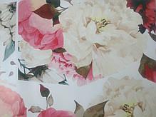 """Вінілова наклейка на стіну, вікна, дзеркала, шафи """"півонії біло-рожево-червоні"""" довжина 1метр 90см (лист 60*90см), фото 3"""