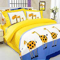 Двухспальное постельное белье Жирафы ТЕП