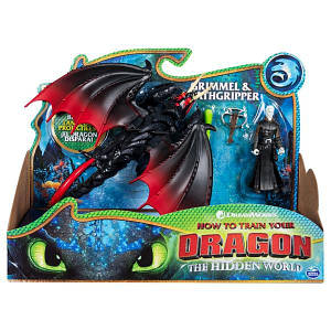 Как приручить дракона 3: набор из дракона Мертвой хватки и всадника Громмеля SM66621/7359 Spin Master