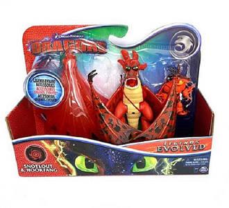 Как приручить дракона 3: набор из дракона Кривоклыка и всадника Сморкалы в броне Spin Master