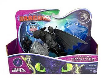 Как приручить дракона 3: набор из дракона Беззубика в броне и всадника Иккинга Spin Master