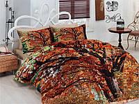 """Комплект постельного белья Сатин Евро макси 240*260 Турция Mariposa 3D """"Hazan"""""""