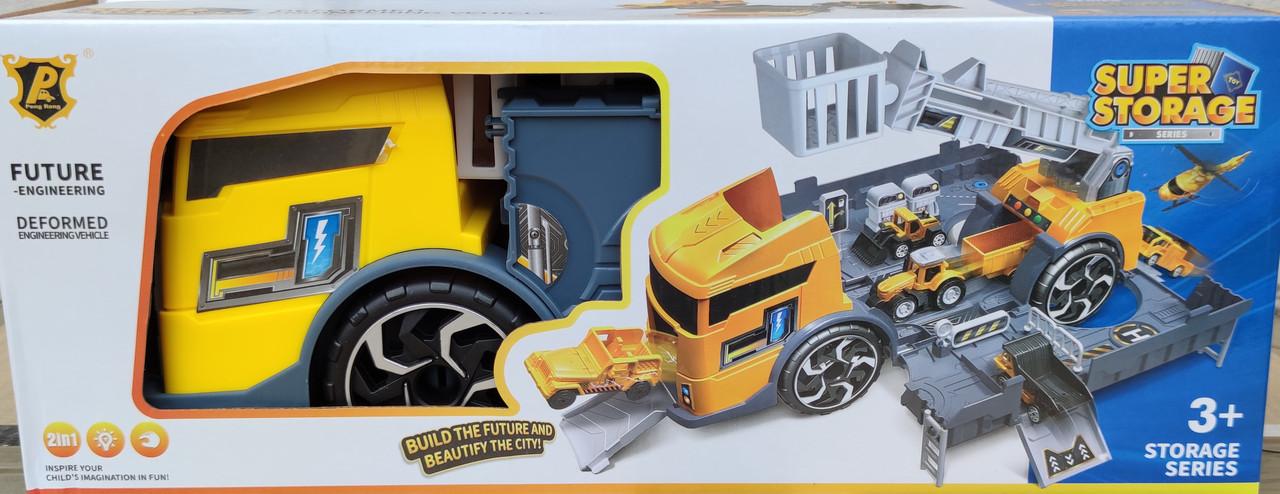Набор трейлер гараж грузовик 2 в 1