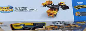 Набор машинок детская стройтехника база техника гараж грузовик трейлер 35см 2в1, фото 3