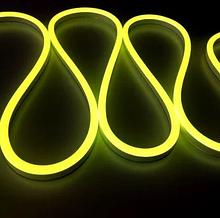 Світлодіодний неон #54-LY лимонний 12V 6W/м SMD2835 вологозахищений AVT