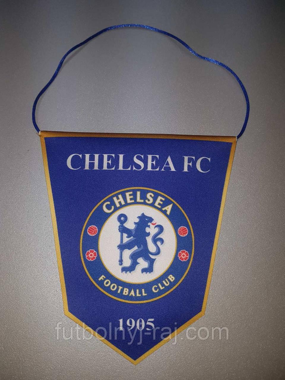 Вымпел  футбольный с изображением герба FC Chelsea