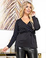 Женская нарядная кофта на запах большие размеры Г0363.2, фото 1