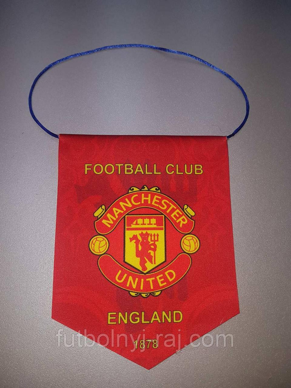 Вымпел  футбольный с изображением герба FC Manchester United