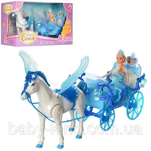 Карета с куклой и лошадью детский игровой набор 227А