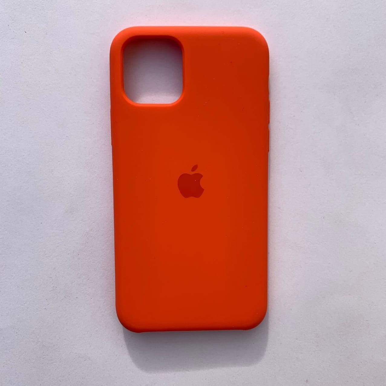 Чехол Silicone Case для Apple iPhone 11 Pro Orange