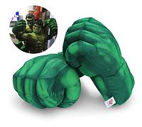 Дитячі м'які рукавички у вигляді кулаків Халка. Великі зелені рукавички Hulk для підлітків