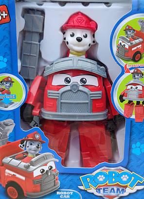 Фигурка игрушка щенок Маршал с машинкой с транспортом из мультфильма Щенячий патруль 17 см., фото 2
