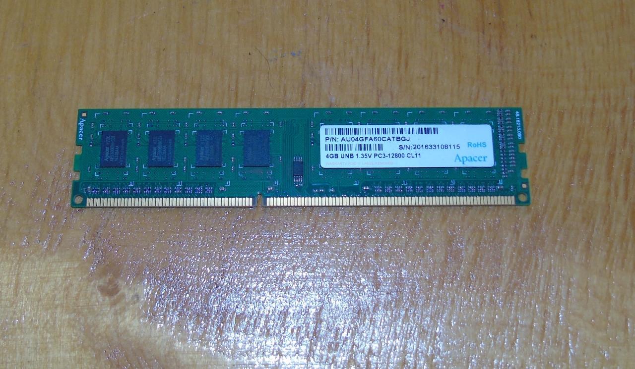 4Gb DDR3 Apacer 1600MHz Оперативная память PC3-12800 (AMD, Intel)