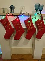 Новогодний носок подарочный (красный) (25х30 см)