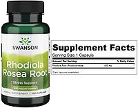 Swanson, Родиола розовая, Rhodiola Rosea, 400 мг, 100 капсул