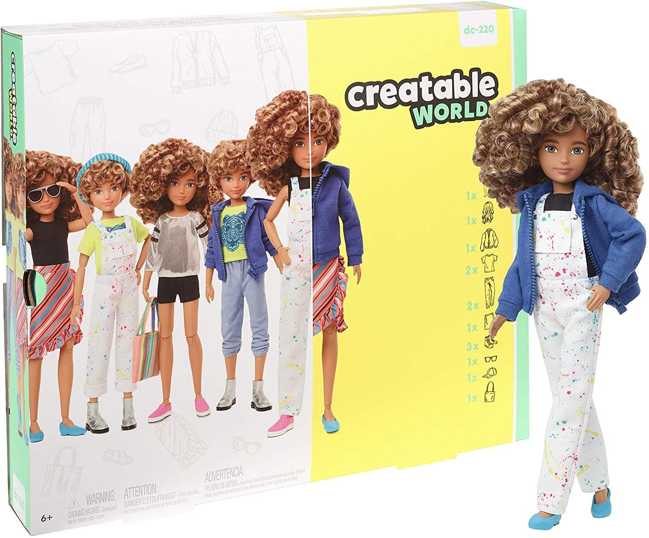 Кукла Создаваемый мир Светлые кудри Creatable World Character Kit Customizable Doll Blonde Curly Hair