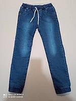 Теплые джинсы на травке для мальчика 7,  12 лет, фото 1