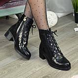 Ботинки женские замшевые демисезонные на невысоком устойчивом каблуке, фото 4