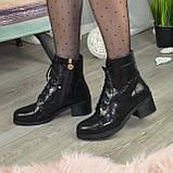 Ботинки женские замшевые демисезонные на невысоком устойчивом каблуке, фото 2