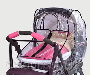 Дождевик на коляску с молнией прозрачный