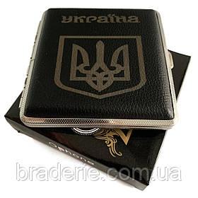 Портсигар с гербом Украины  на 20 сигарет HL-156
