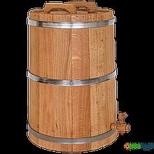 Жбан дубовый 80 литров (оцинкованный обруч), Дубовые бочки, Для напитков, Украина, 80
