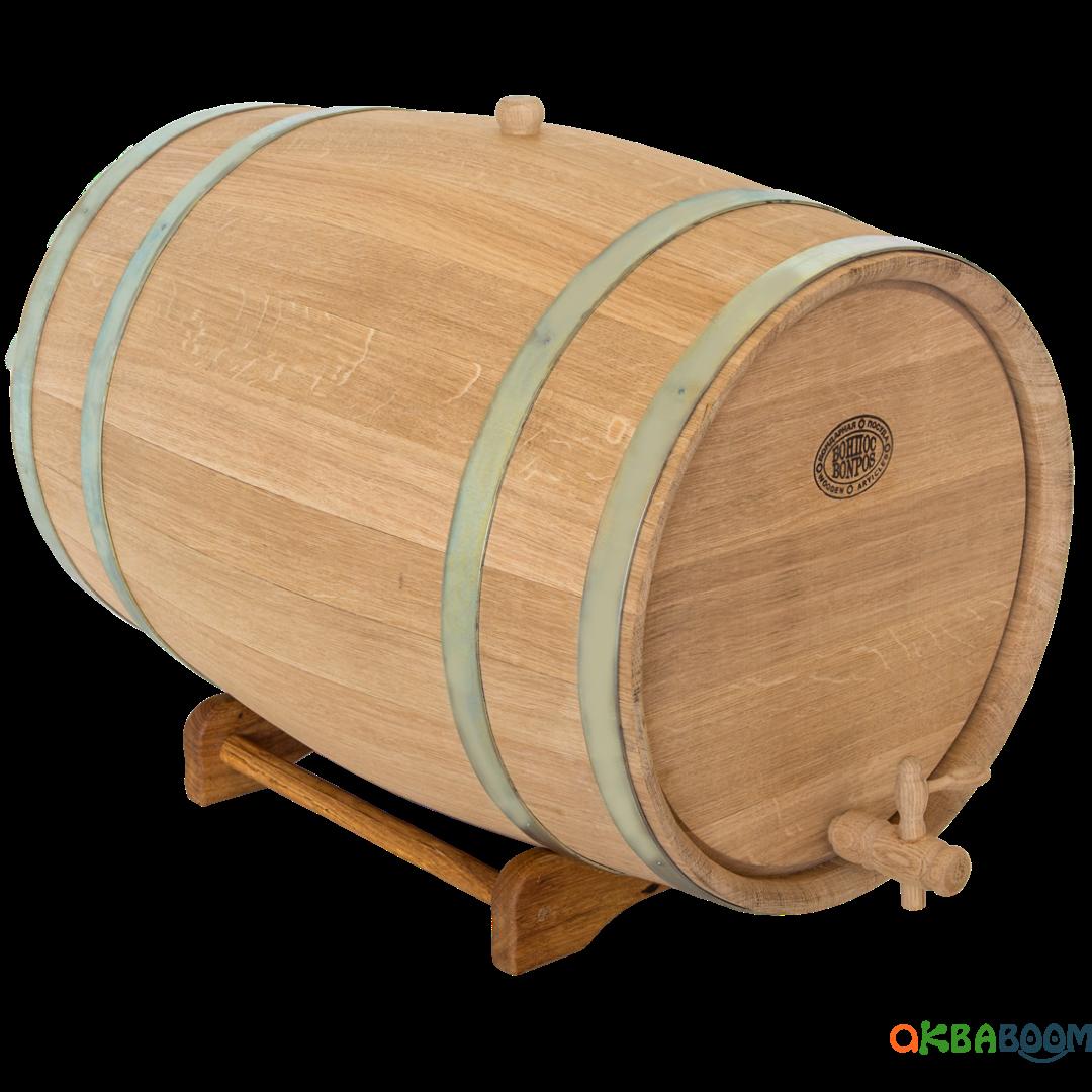 Бочка дубовая 80 литров (оцинкованный обруч), Дубовые бочки, Для напитков, Украина, 80