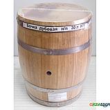 Бочка дубовая 30 л для вина, коньяка (нержавеющий обруч), Дубовые бочки, Для напитков, Украина, 30, фото 7