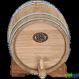 Бочка дубовая 15 л для вина, коньяка (нержавеющий обруч), Дубовые бочки, Для напитков, Украина, 15, фото 2